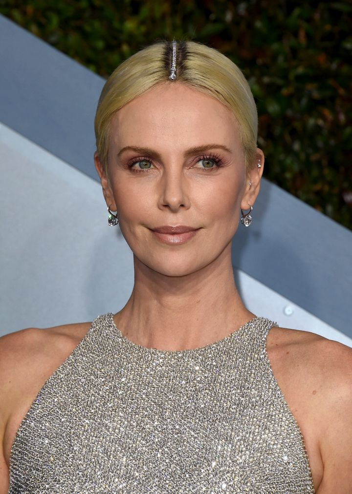 Charlize Theron sparkles at the 26th annual Screen Actors Guild Awards in Los Angeles.