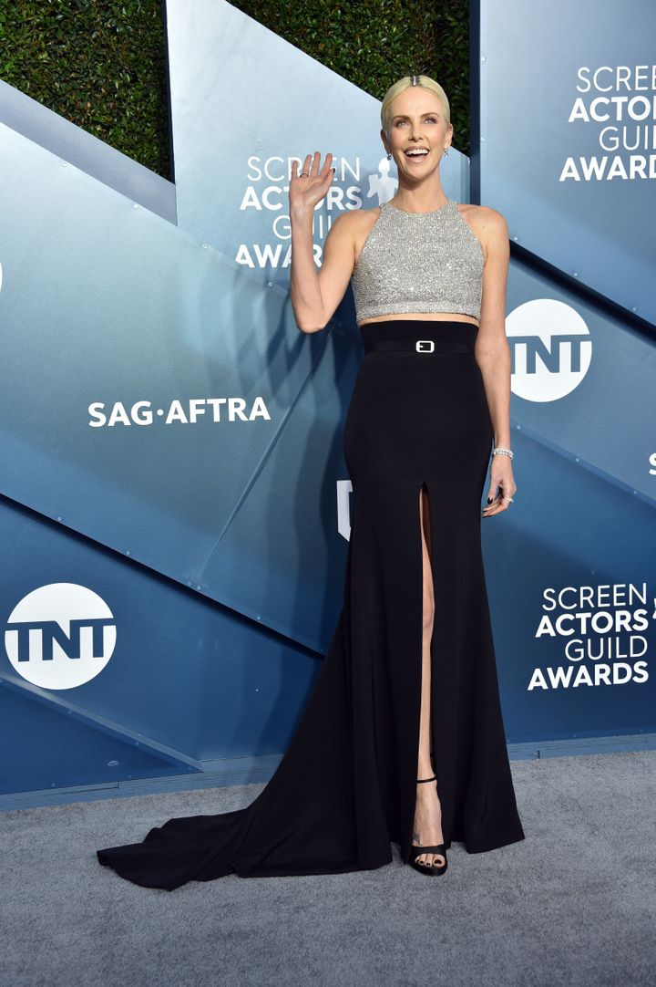 Theron's full SAG Awards look.