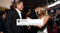 Brad Pitt And Jennifer Aniston Reunited At SAG Awards And Twitter Needed A