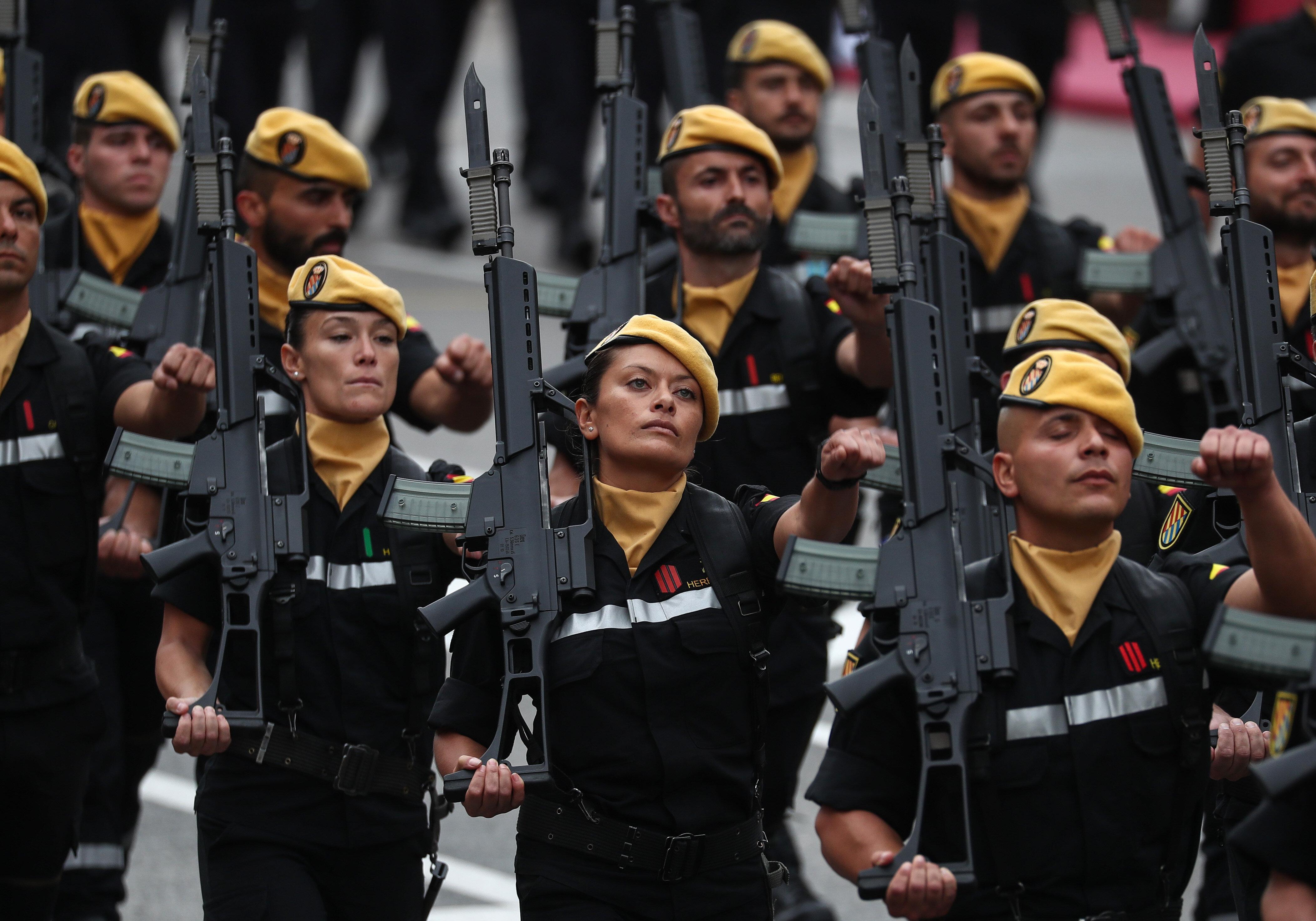 Más de 1.200 militares saldrán de las Fuerzas Armadas en 2020 por cumplir 45 años, 50.000 hasta 2036