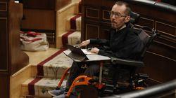 Críticas a una diputada del PP por sus palabras sobre Echenique, su silla de ruedas y el