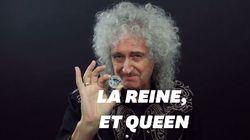 Queen et la Queen sur la même pièce de monnaie, une