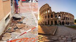 Si apre una voragine vicino al Colosseo, evacuato un