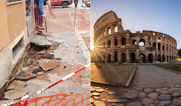 Si apre una voragine vicino al Colosseo, evacuato un palazzo