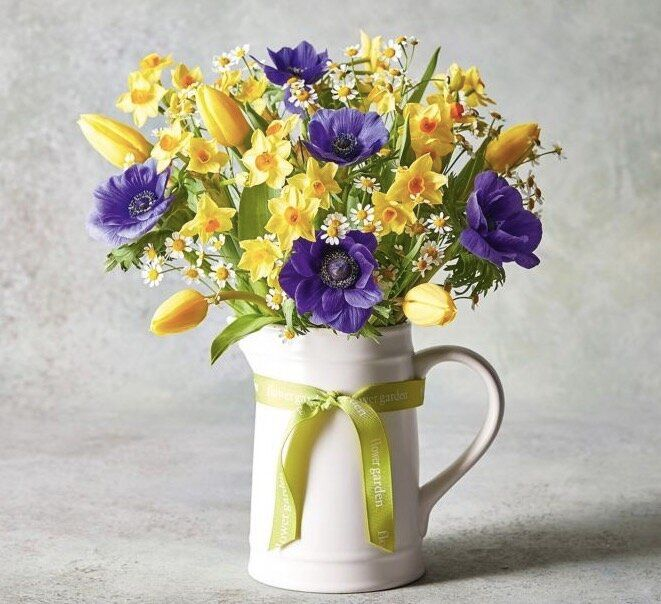 Scented Spring Posy Jug, Waitrose