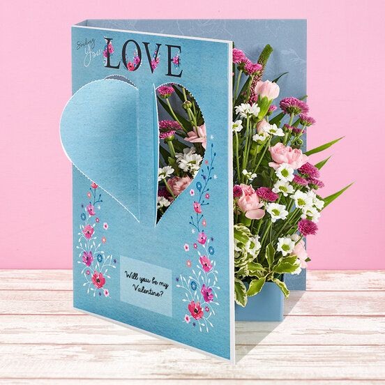 Contemporary Pink, Flower Card