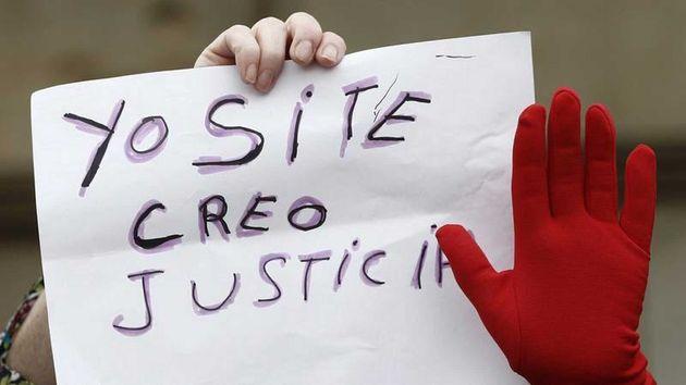 Imagen de archivo de una concentración contra los violadores de La Manada, en