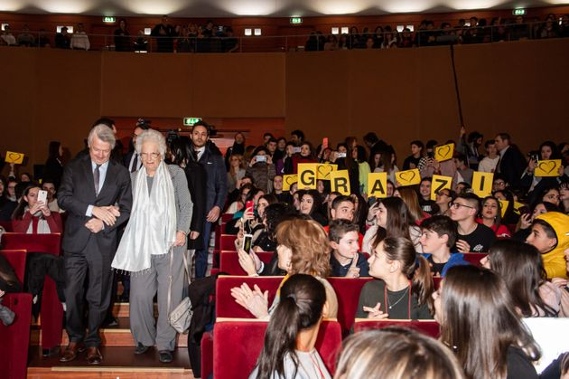 Liliana Segre al teatro degli Arcimboldi di