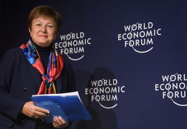 Kristalina Georgieva, en Davos, este