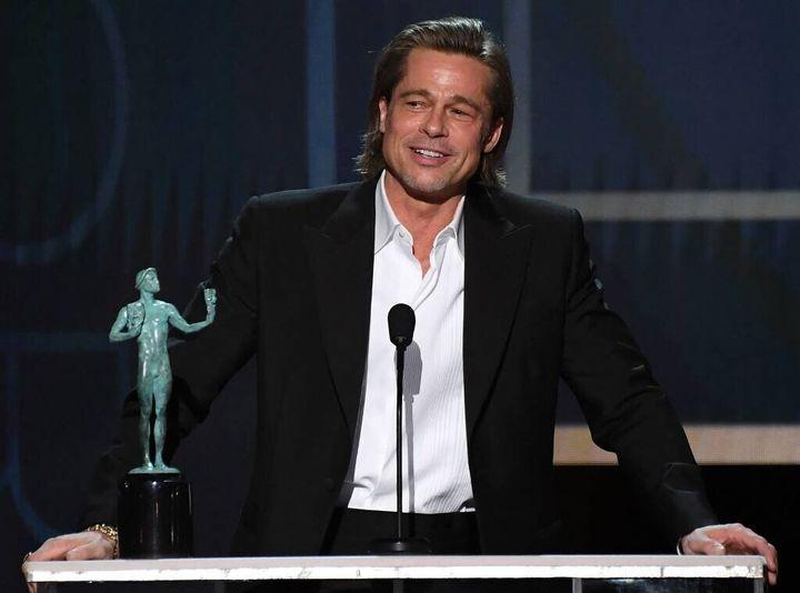 Brad Pitt en los premios del Sindicato de Actores (SAG).