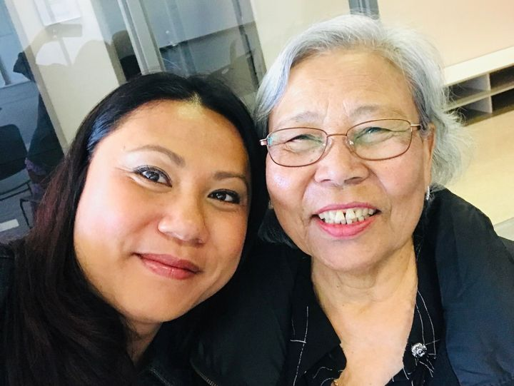 Chan Tep et sa mèreKoy-Chhoeung Nhek Tep