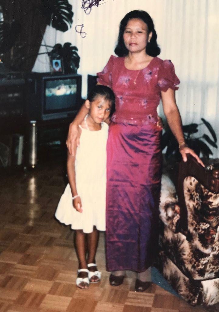 Chan Tep et sa mère Koy-Chhoeung Nhek Tep