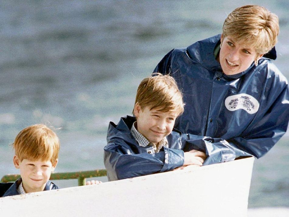 In October, 1991, Prince Harry, seven, visited parts of Canada with his brother, Prince William, his father, Prince Charles, and his mum, Princess Diana. In this photo, Diana and her boys are on a boat at Niagara Falls.
