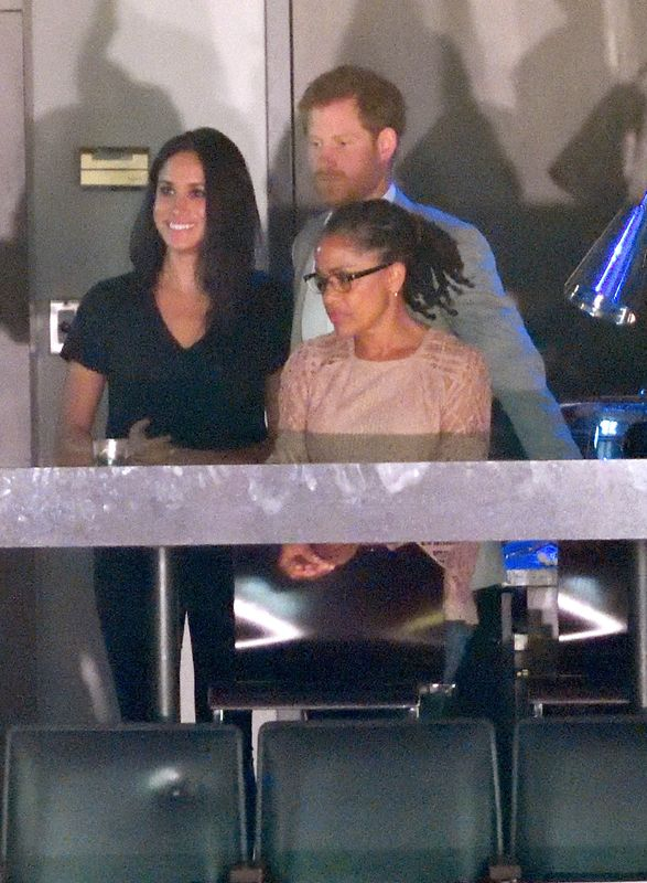 We knew Meghan and Harry were serious when Meghan's mom showed up  at the Invictus Games closing ceremony in Toronto and was spotted hanging out with the couple at the then-Air Canada Centre (now Scotiabank Arena) on Sept. 30, 2017.