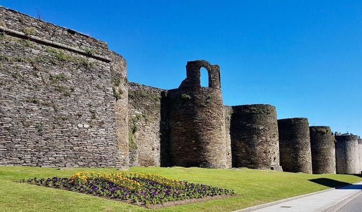 Imagen de la muralla roma de Lugo.