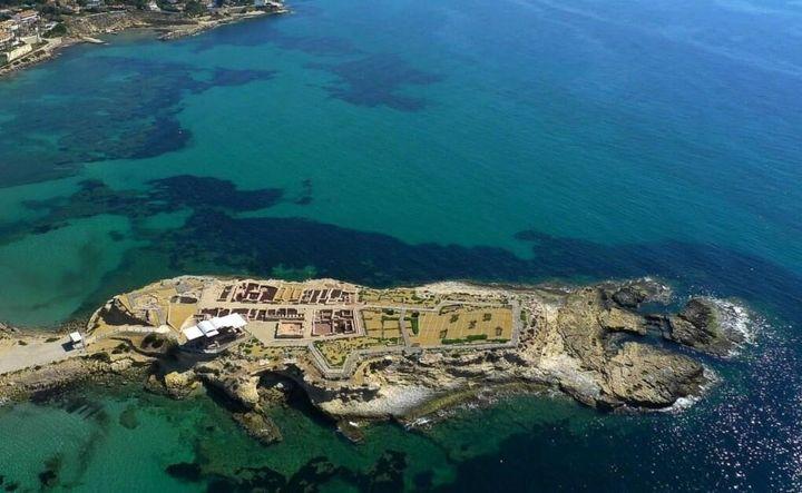 El yacimiento arqueológico La Illeta dels Banyets de Campello, Alicante.