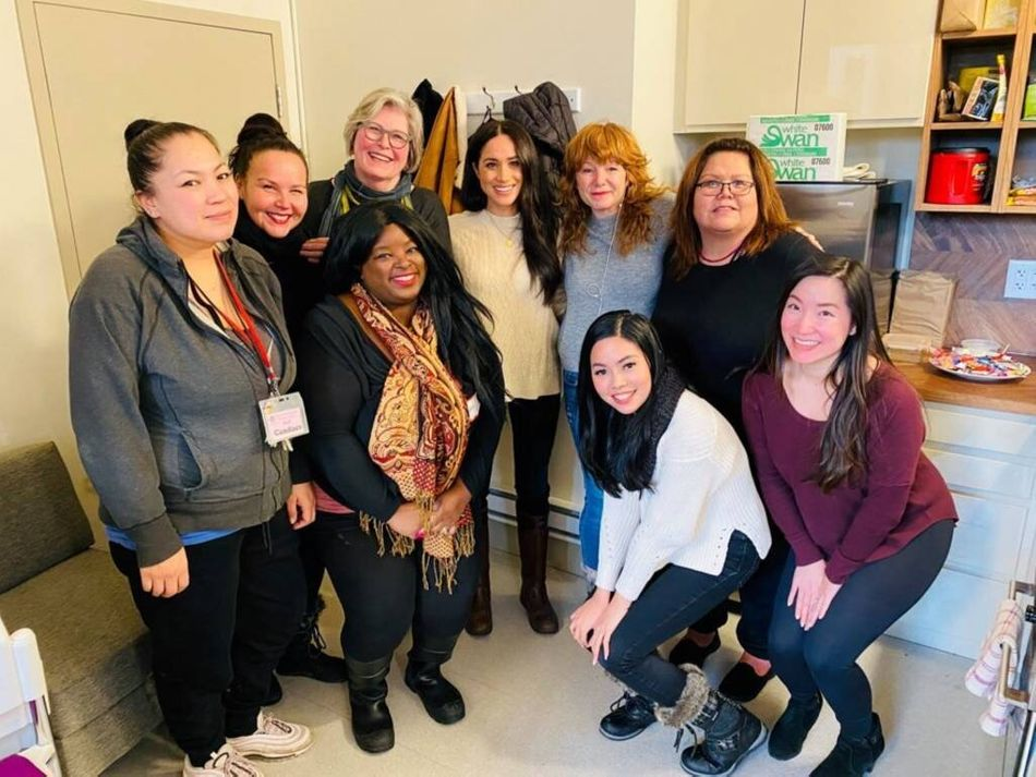 "After Harry and Meghan announced their plans to step down as senior royals, the duchess got right back to work. First stop, the Downtown Eastside Women's Centre in Vancouver to ""discuss issues affecting women in the community."""