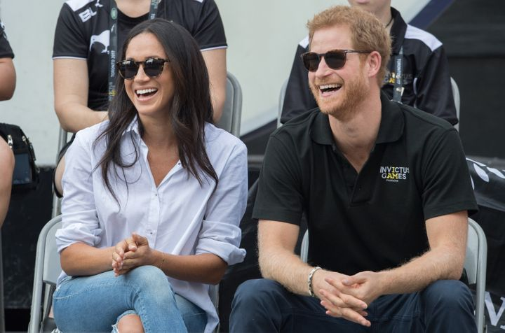 Before they got engaged, Harry and Meghan spent a lot of time together in Toronto, where Meghan lived for seven years. They made their public debut as a couple at the Invictus Games in Toronto (seen here), where they watched a wheelchair tennis game at the city's Nathan Phillips Square on Sept. 25, 2017.