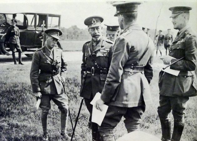 King George V and the Prince of Wales, later Edward VIII, on a First World War visit to France in 1917. This was the time when George V started restricting the use of royal titles.