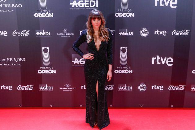 Aitana en la alfombra roja de los premios Odeón