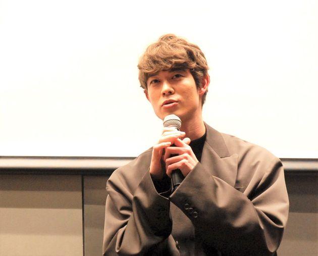映画『his』公開前に行われたトークセッションで。宮沢さん。