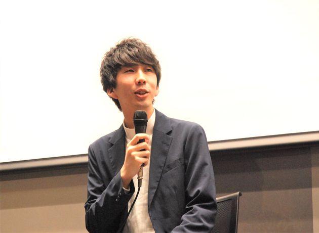 映画『his』公開前に行われたトークセッションで。松岡さん。