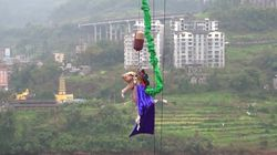 Pig Bungee Jumping Stunt In China Prompts Global