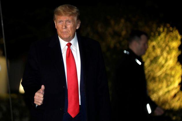 Donald Trump, ici le 20 janvier quittant la Maison Blanche pour Davos,pourrait bien obtenir le...