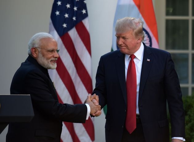 Prime Minister Narendra Modi with US President Donald Trump in June 2017 at the White House in Washington