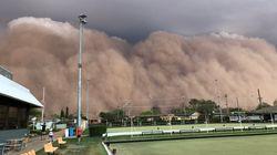 '골프공 크기' 우박 동반한 폭우와 강풍이 호주를