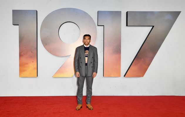 Nabhaan Rizwan attends the 1917 World Premiere in London's Leicester