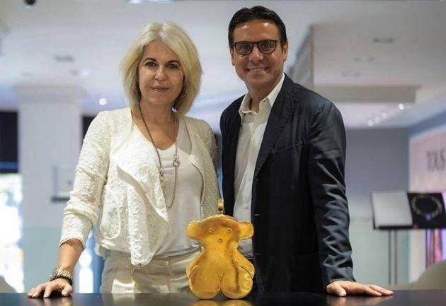 La presidenta de Tous, Alba Tous, y el nuevo consejero delegado de la compañía, Carlos