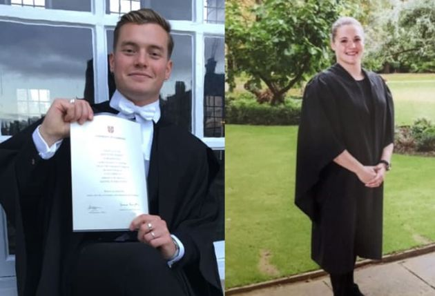 (Left) Jack Merritt, 25, of Cottenham, Cambridgeshire and (right) Saskia Jones, 23, of Stratford-upon-Avon,...