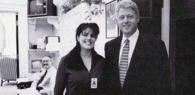 Imagen de archivo de Lewinsky (izq) y Trump