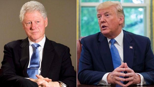 Combo con las imágenes de Clinton (izq) y Trump