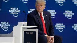 Donald Trump a Davos: