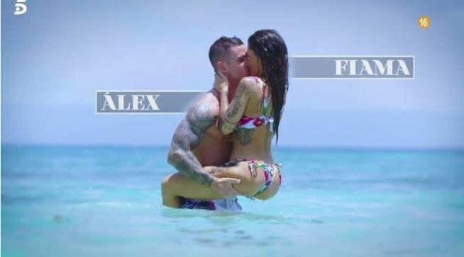 Álex y Fiama, concursantes de 'La isla de las tentaciones'.