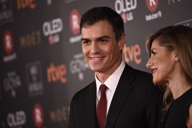 Pedro Sánchez y Begoña Gómez, en los Premios Goya