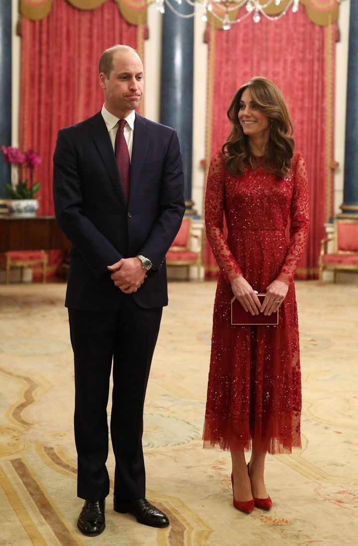 The Duke and Duchess of Cambridge host a reception for heads of state and government at Buckingham Palace in London on Jan. 2