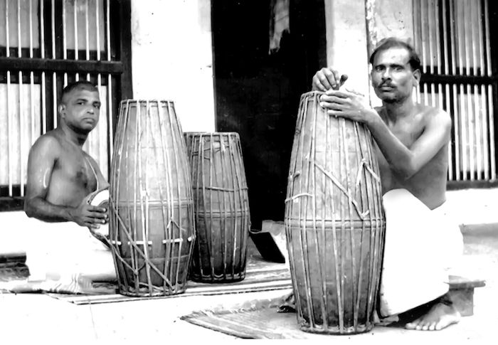 Two men dominate the narrative in 'Sebastian and Sons'—Parlandu, a brilliant innovator and mrdangam maker, and Palghat Mani Iyer, a legendary player.
