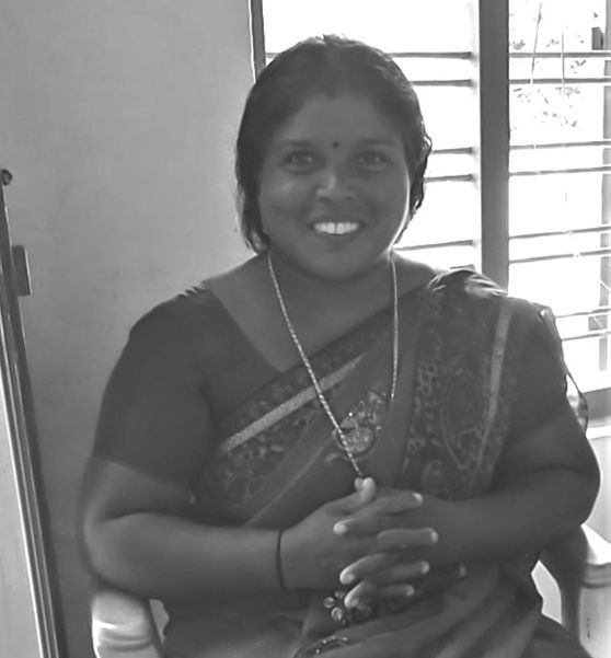 Geetha's father was a well-known Coimbatore-based mrdangam maker, and she grew up watching him work.