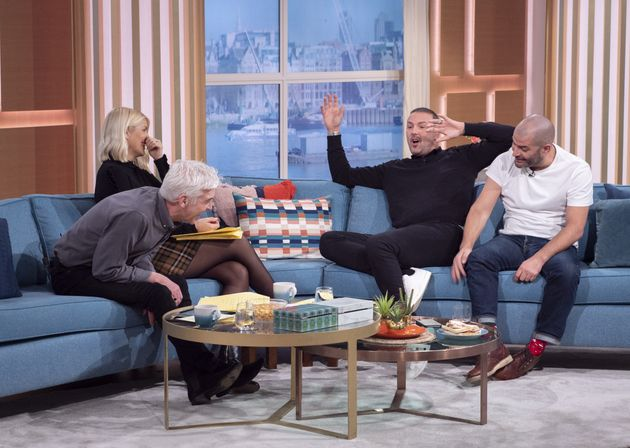 Phillip Schofield and Holly Willoughby teased Paddy over his