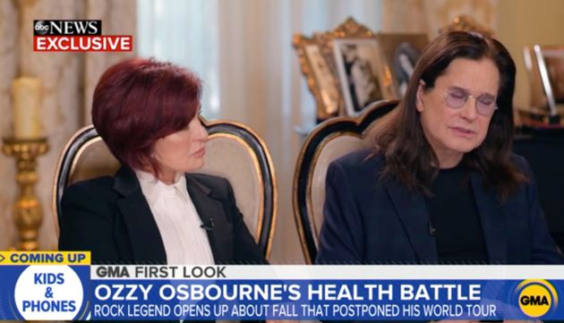 Ozzy and Sharon during their Good Morning America