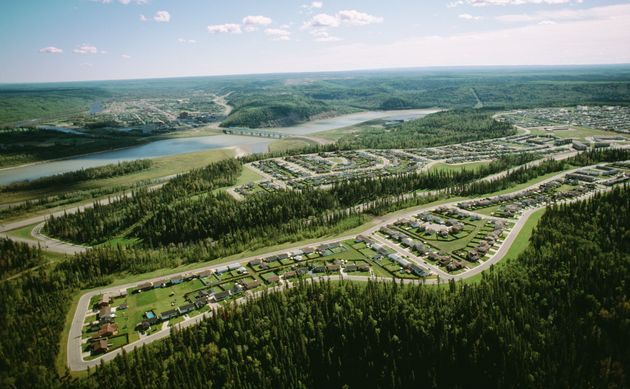 An aerial view of Fort McMurray,