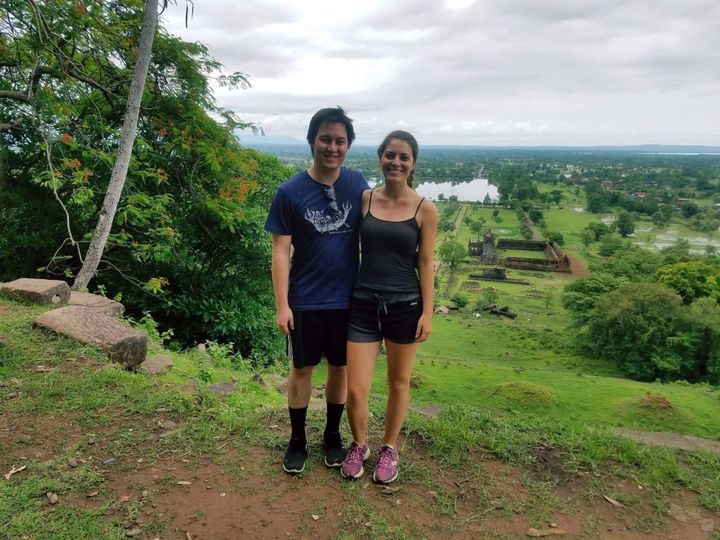 The author and her boyfriend in Laos.