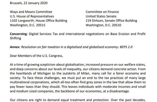 Web tax, il Parlamento Ue scrive al Congresso