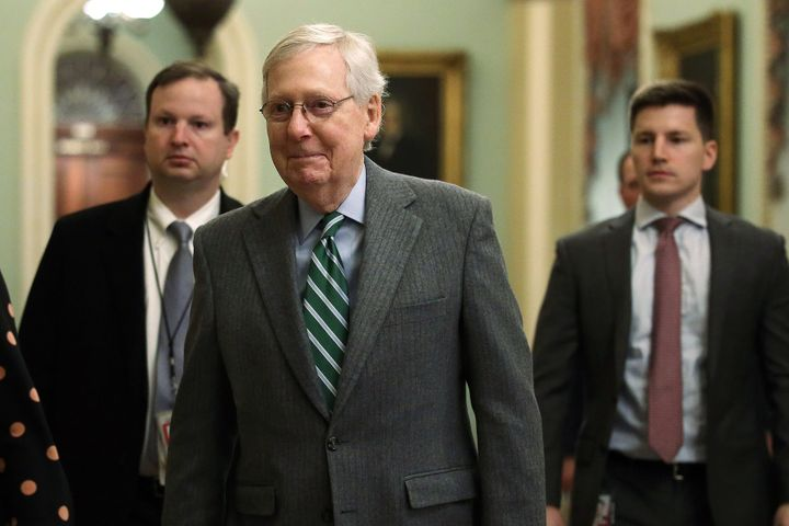 Senate Majority Leader Mitch McConnell (R-Ky.) arriving at the U.S. Capitol last week.