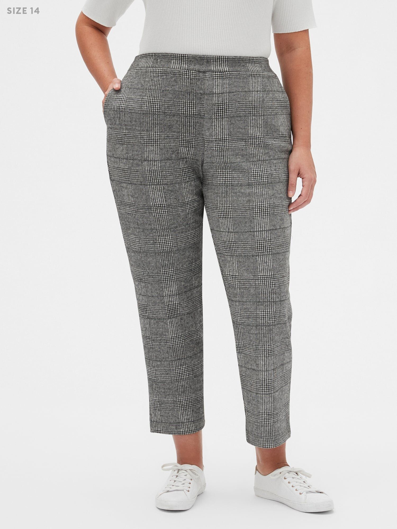 Plus Size Women/'s Mid Rise Flare Leg Dressy Pants Pull On Stretch Long For Work