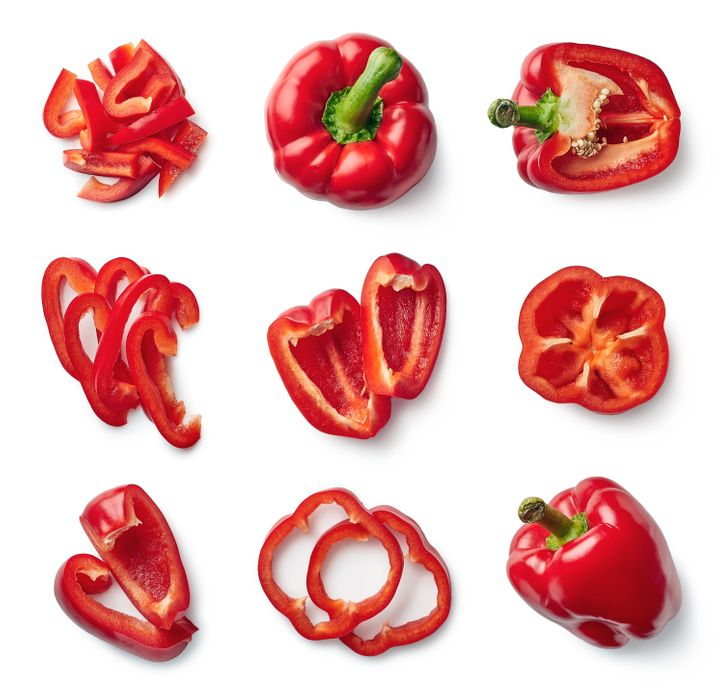 Eat red peppers for their anti-viral and anti-inflammatory properties when you have a cold.