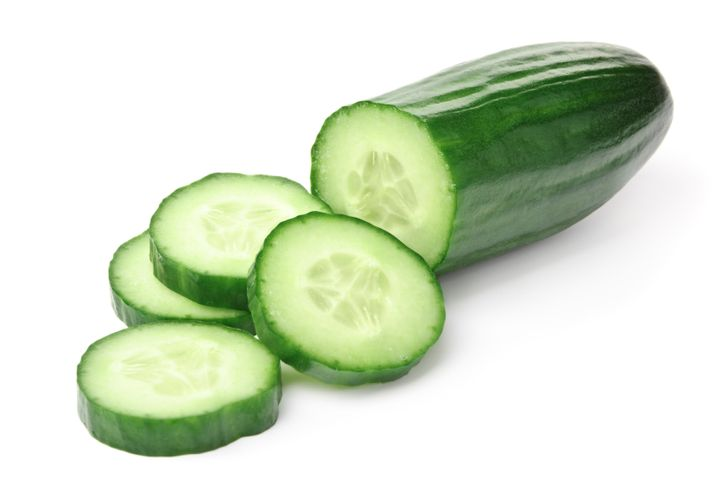The hydrating properties of cucumbers can help when you feel a headache coming on.